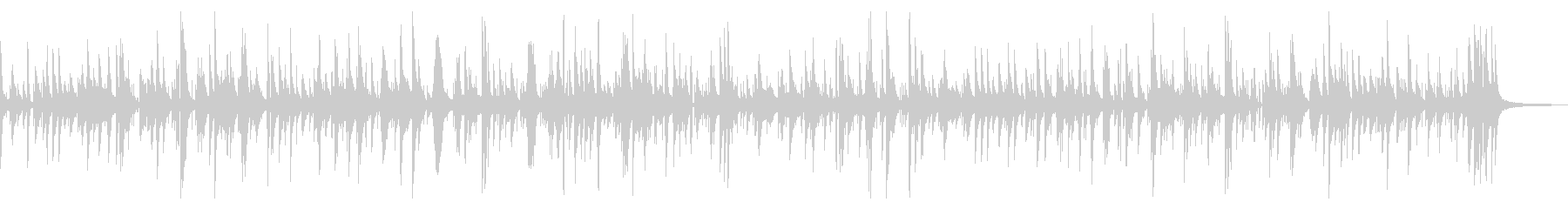 起伏の少ない穏やかなジャズピアノBGMの未再生の波形