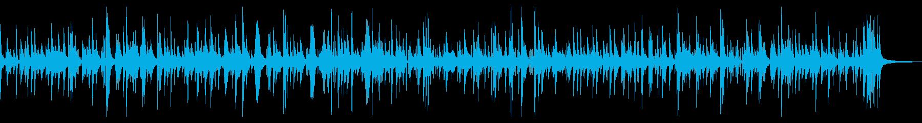 起伏の少ない穏やかなジャズピアノBGMの再生済みの波形