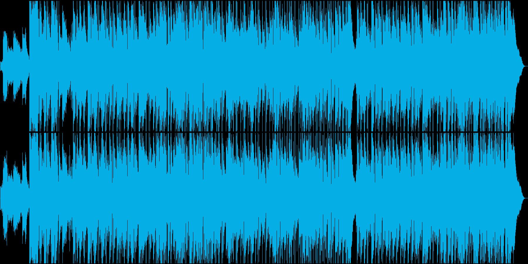 エレキギターが気持ちいゆったりカントリーの再生済みの波形