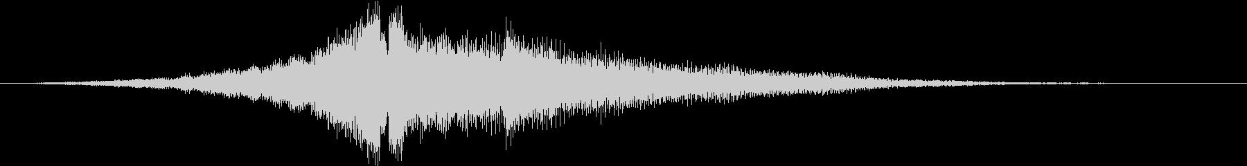 アコギ、リバースからコードジャラーンのんの未再生の波形