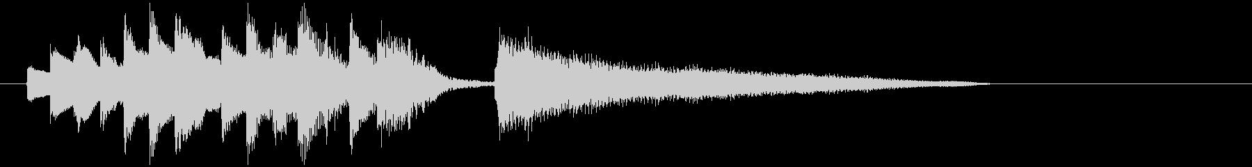 サウンドロゴ・ジングル(ピアノとエレピ)の未再生の波形