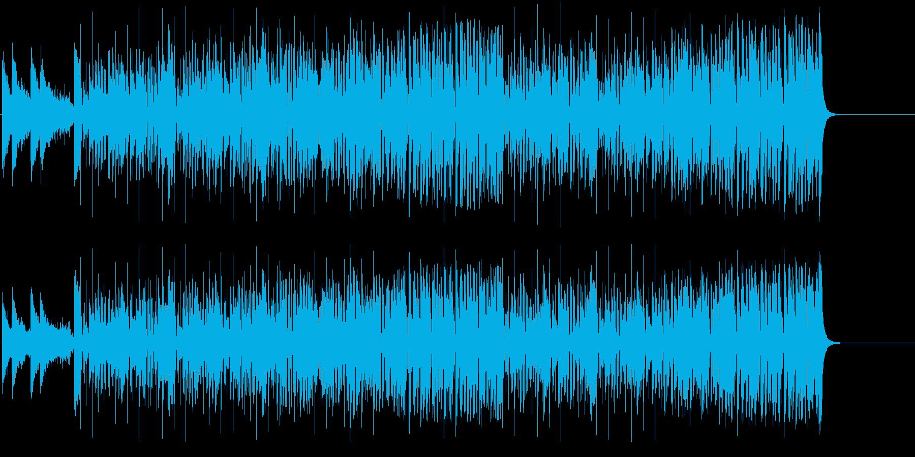 ダンサブルなテクノ/フュージョンの再生済みの波形