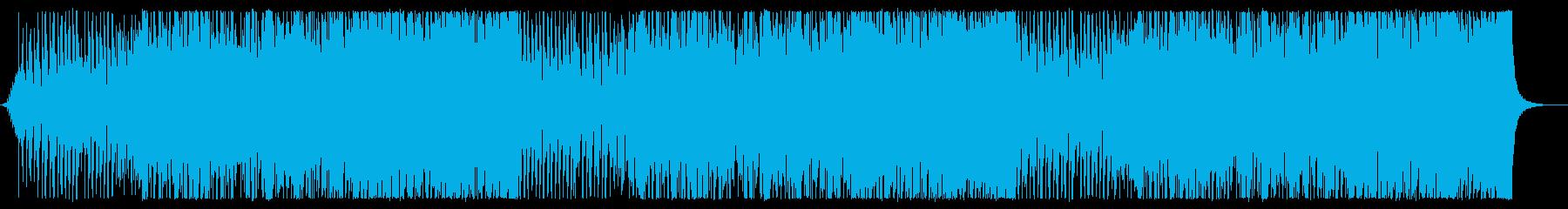 ディスコサウンドに乗ったテクノポップの再生済みの波形