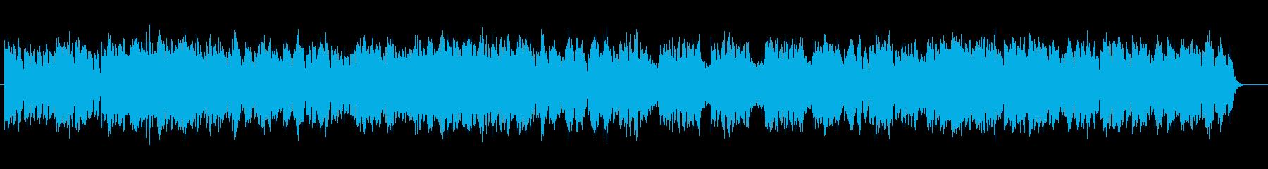 幻想的な落ち着いたベースサウンドの再生済みの波形