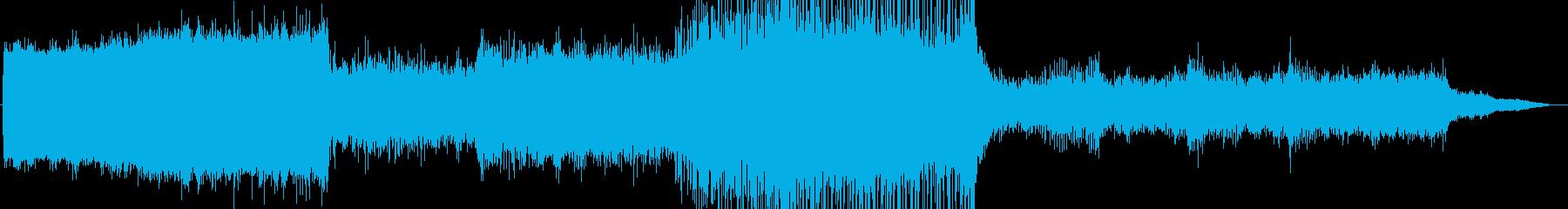 不安感を煽る、ゲームの予告編のような曲の再生済みの波形