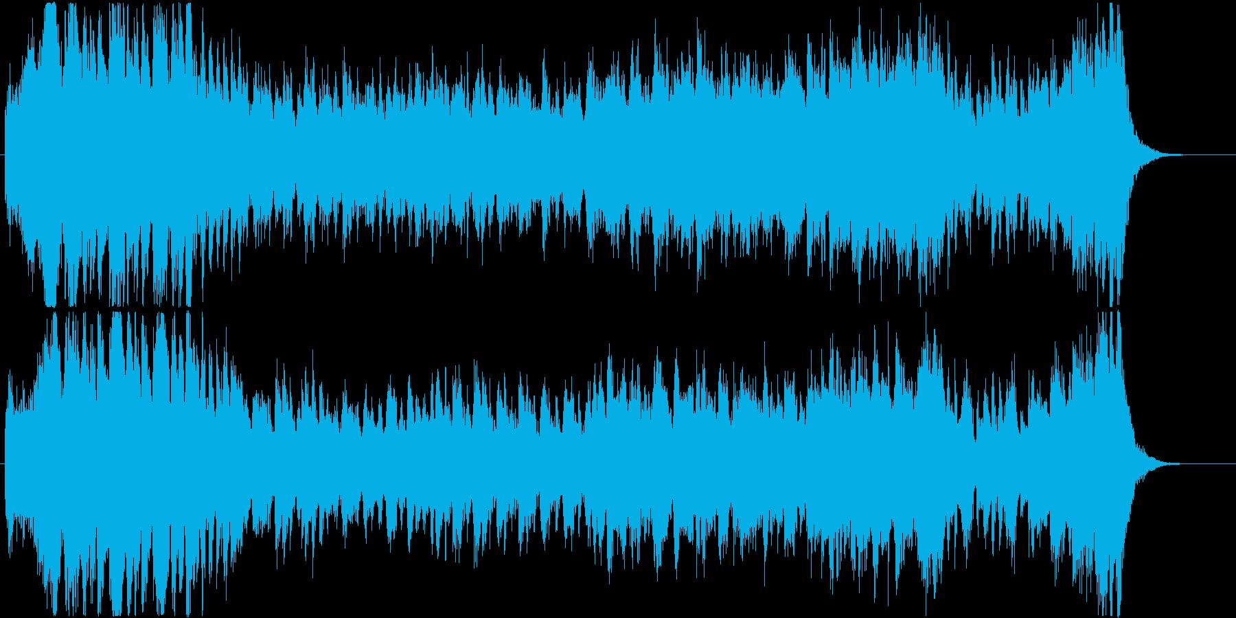 優雅な雰囲気のオーケストラワルツの再生済みの波形