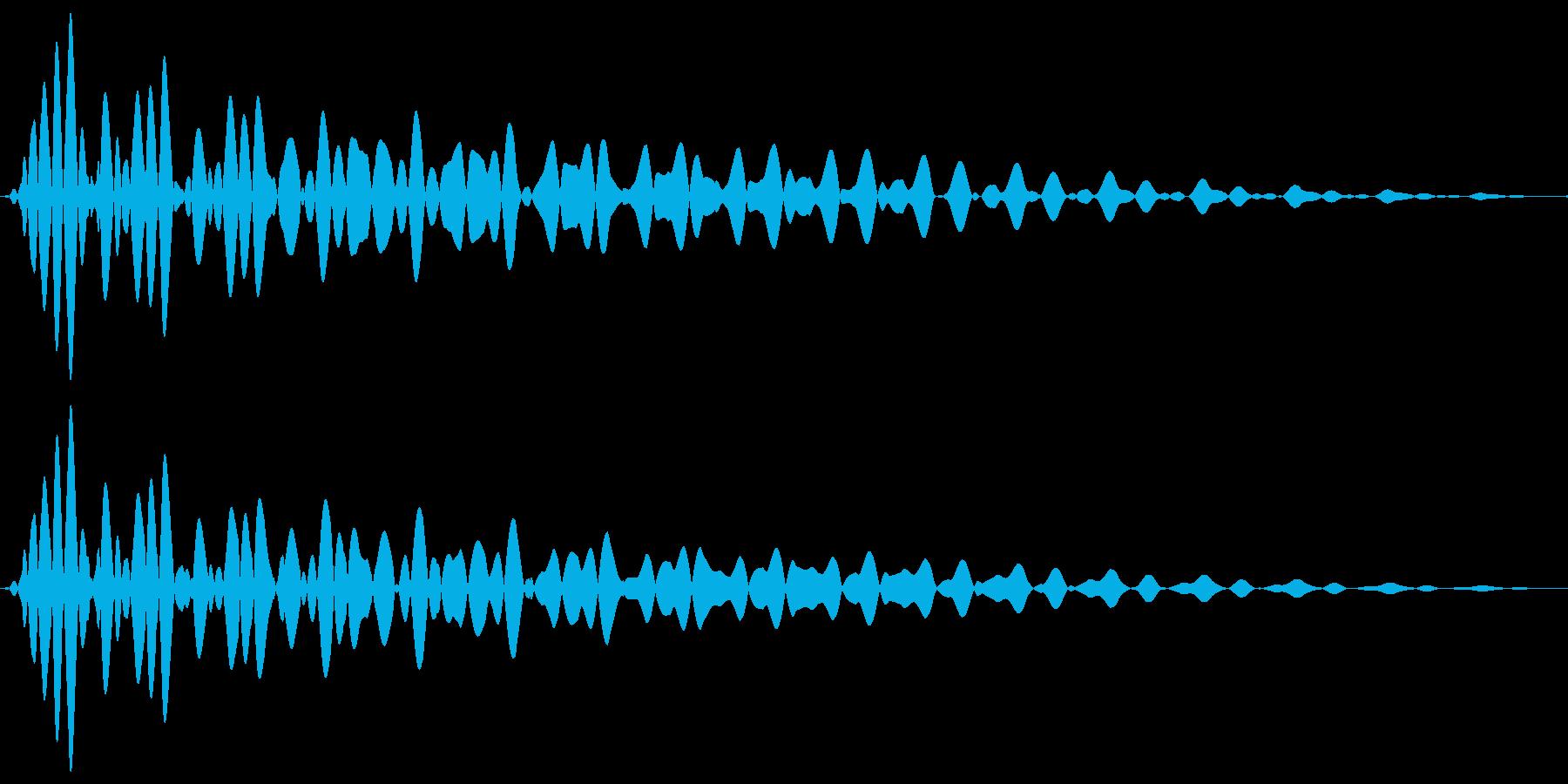 PureTouch アプリ用タッチ音62の再生済みの波形