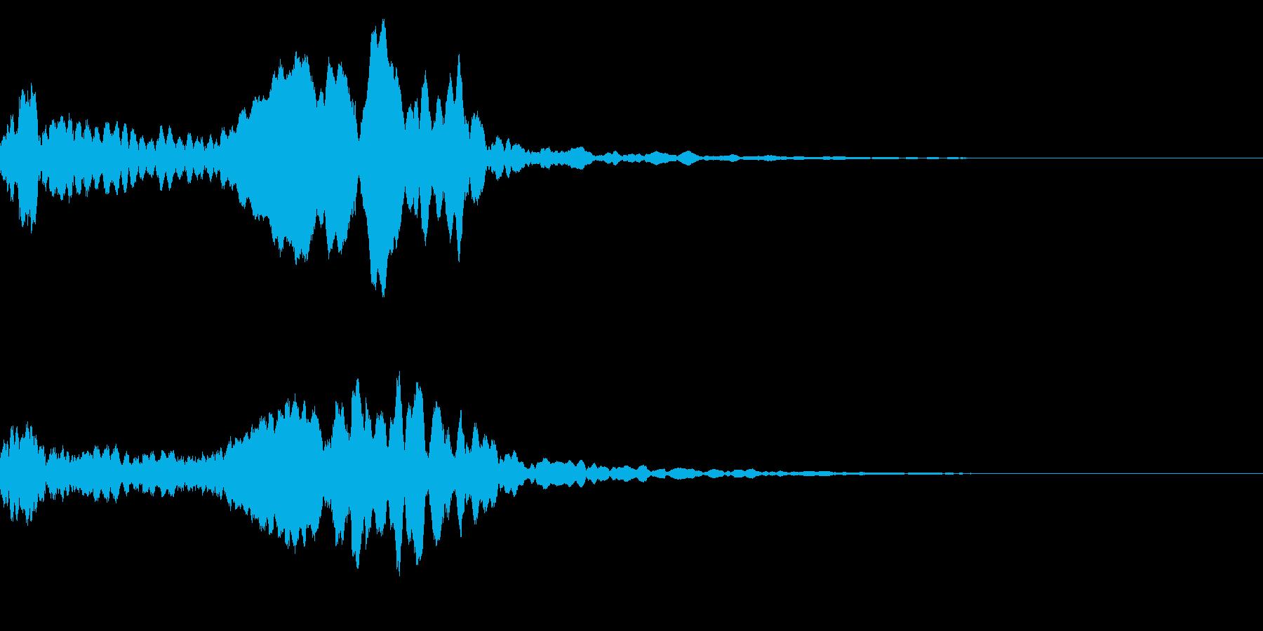 尺八の和風なインパクトジングル! 03の再生済みの波形