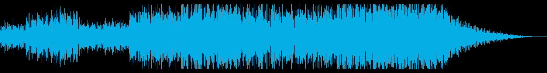 ほのぼのした楽しげなテクノの再生済みの波形