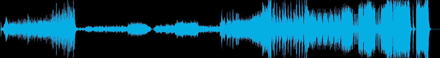 迫力のある荘厳なオーケストラ曲の再生済みの波形