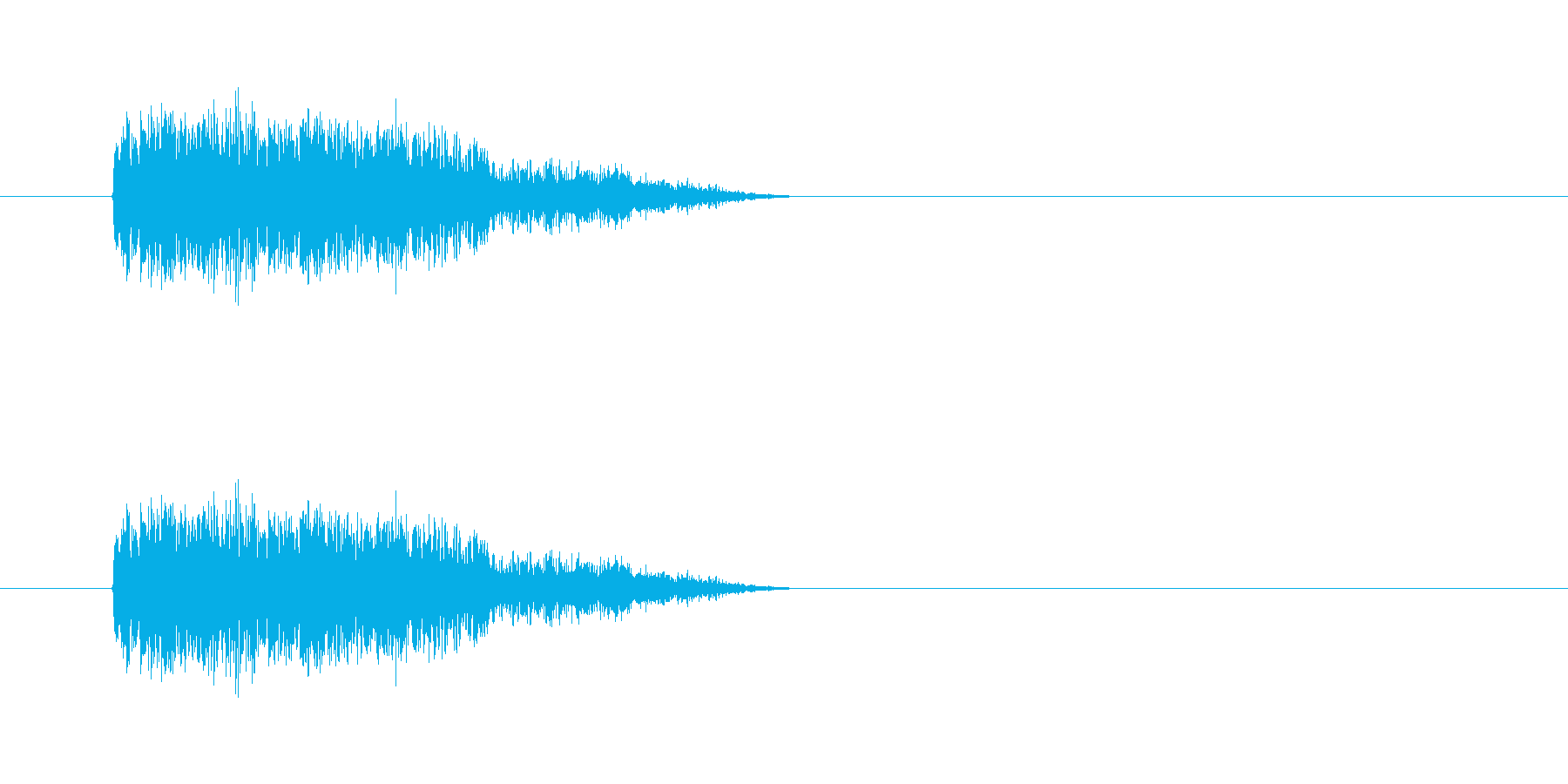 爆発28の再生済みの波形