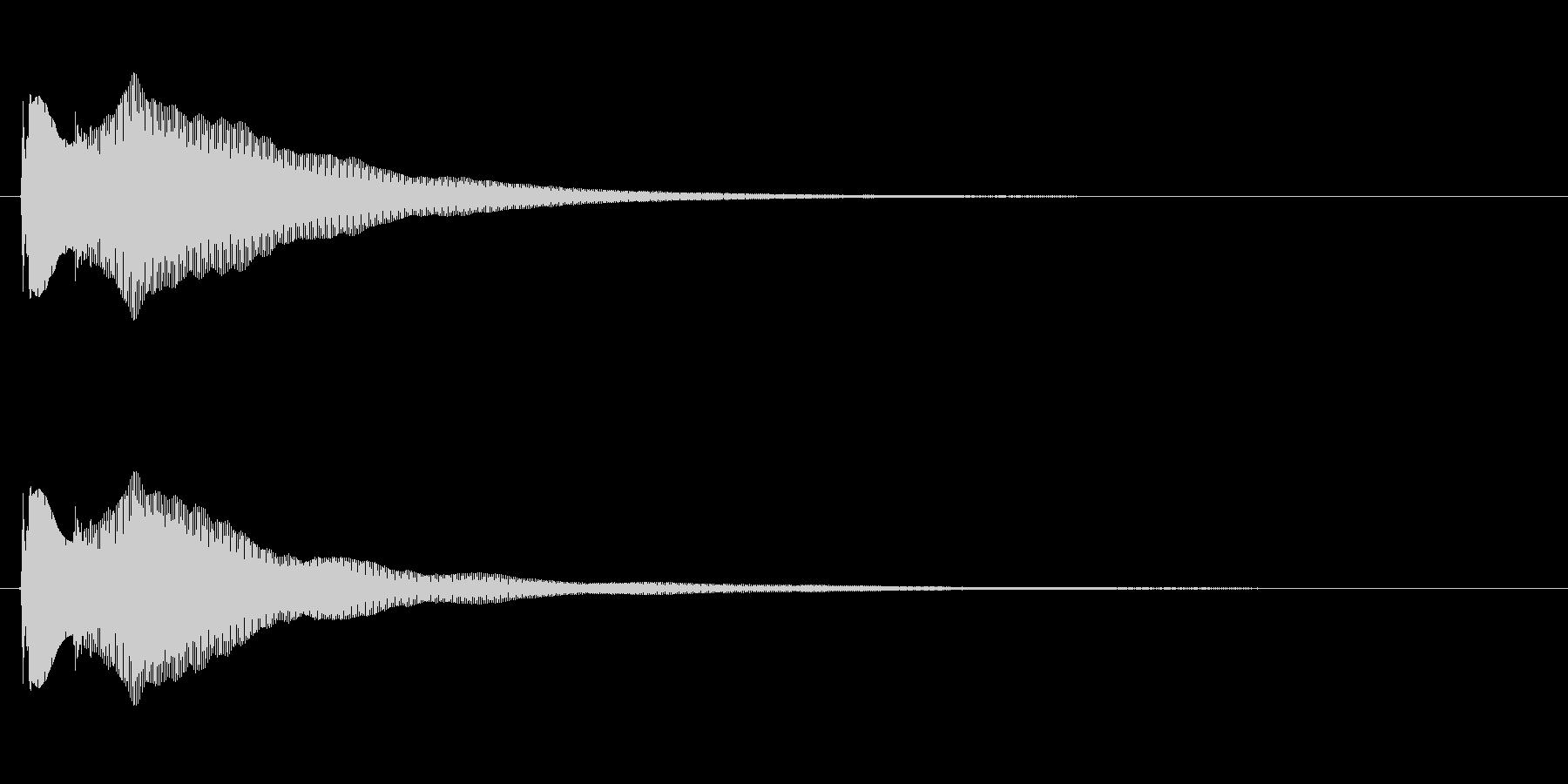 ポコーン【ハープ風の決定音1】の未再生の波形