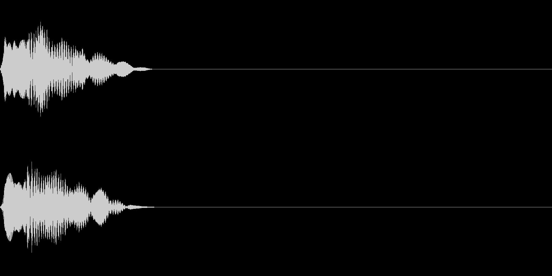 ピロン ゲーム/アプリ/起動音/スタートの未再生の波形