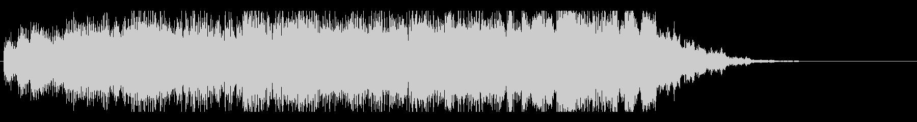 ジングル(パラダイス的な電子音楽)の未再生の波形