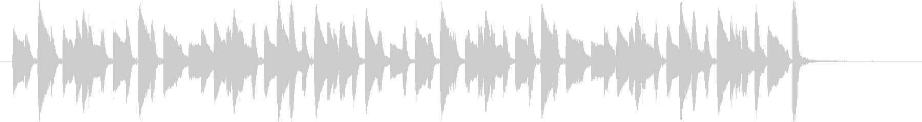 ピアノによる軽快なジングルの未再生の波形