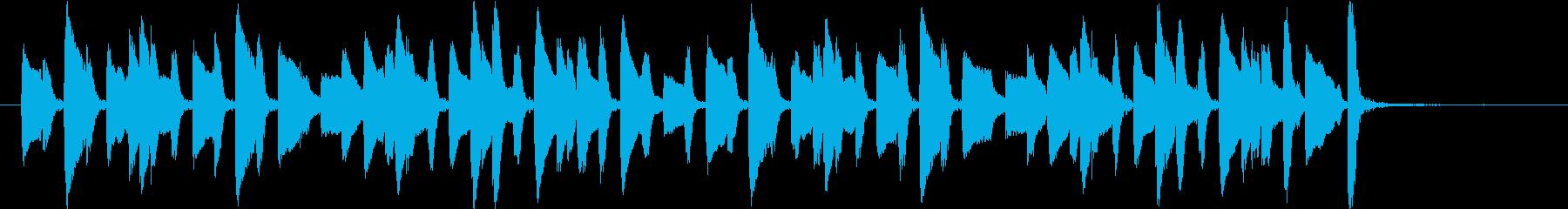 ピアノによる軽快なジングルの再生済みの波形