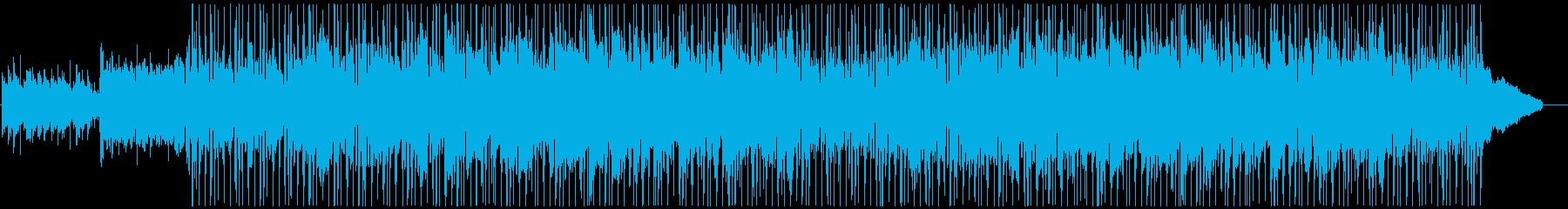 おしゃれで爽やかな日常をイメージした曲の再生済みの波形