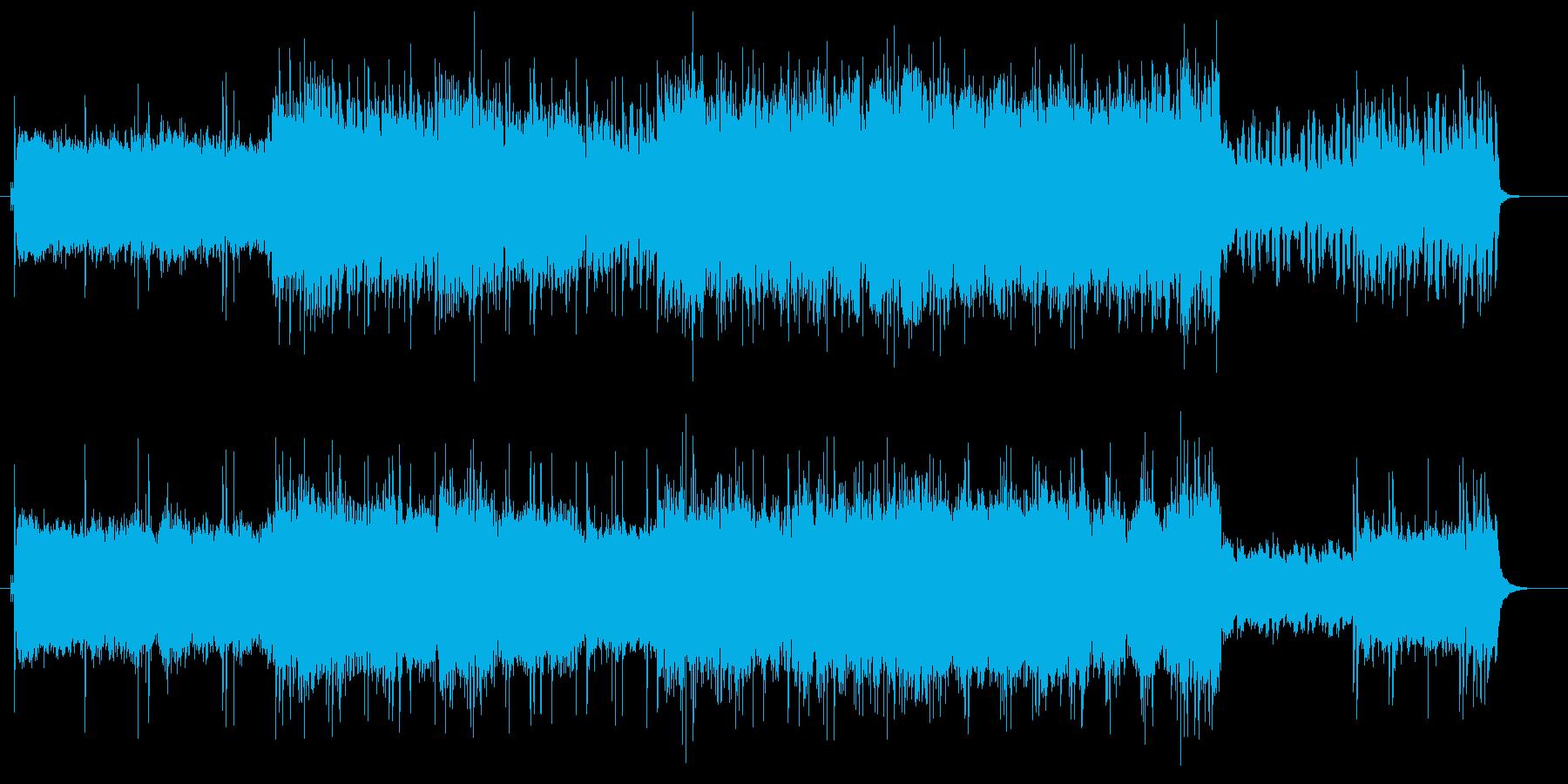 5拍子で疾走、エレキギターとシンセの再生済みの波形