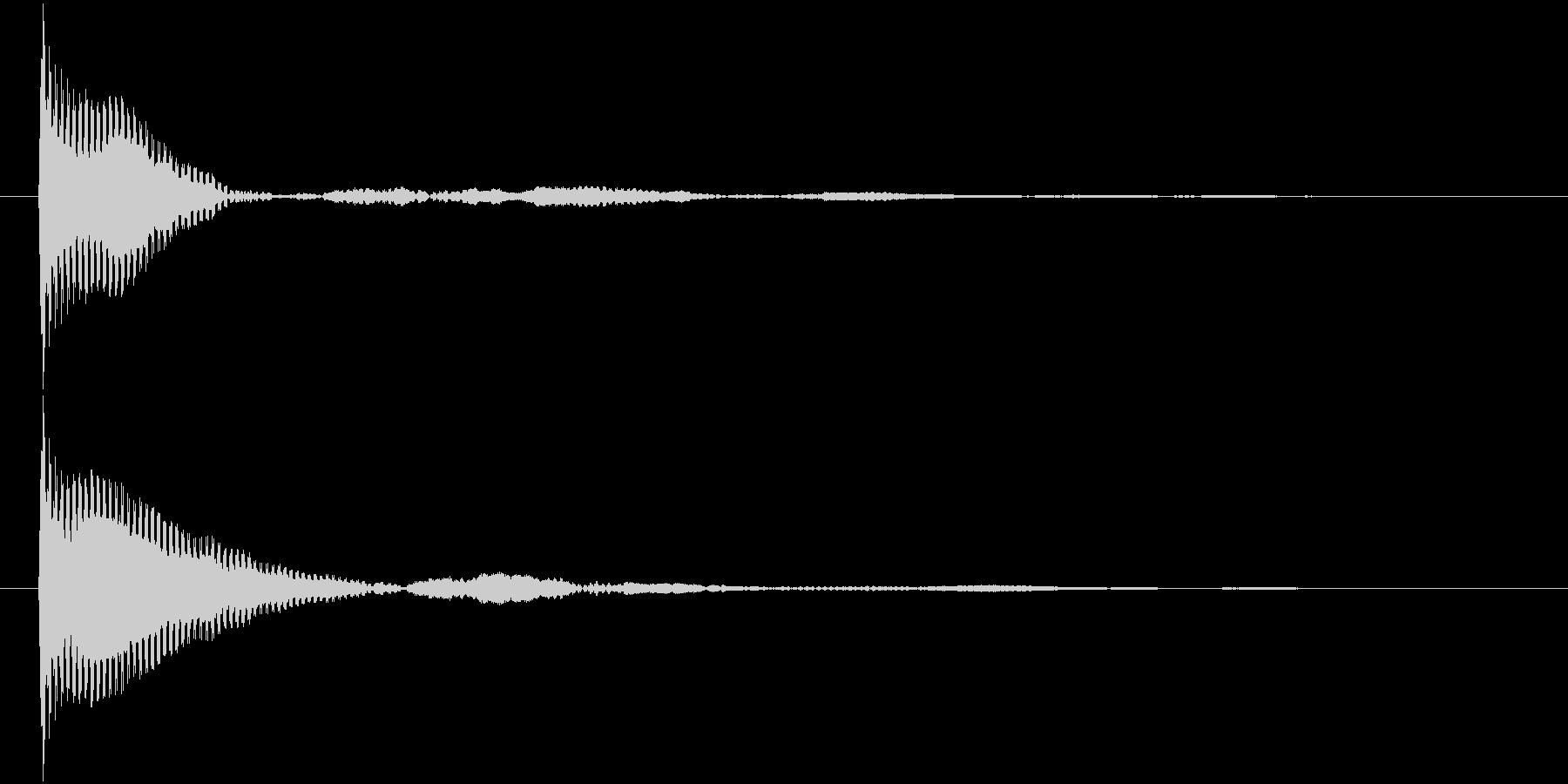 ポン カーソル音 タップ音 A-10_の未再生の波形