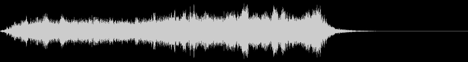 ワープ 宇宙的 未来的な効果音 01の未再生の波形