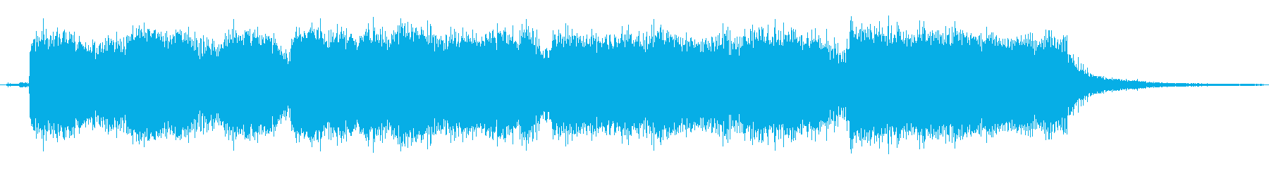 ハードロックのギターのジングルの再生済みの波形