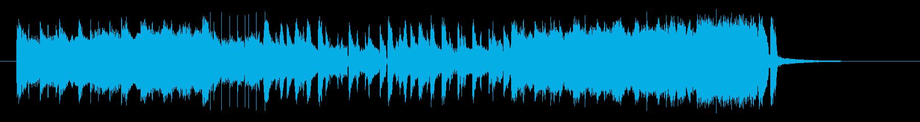 陽気なトランペットポップスの再生済みの波形