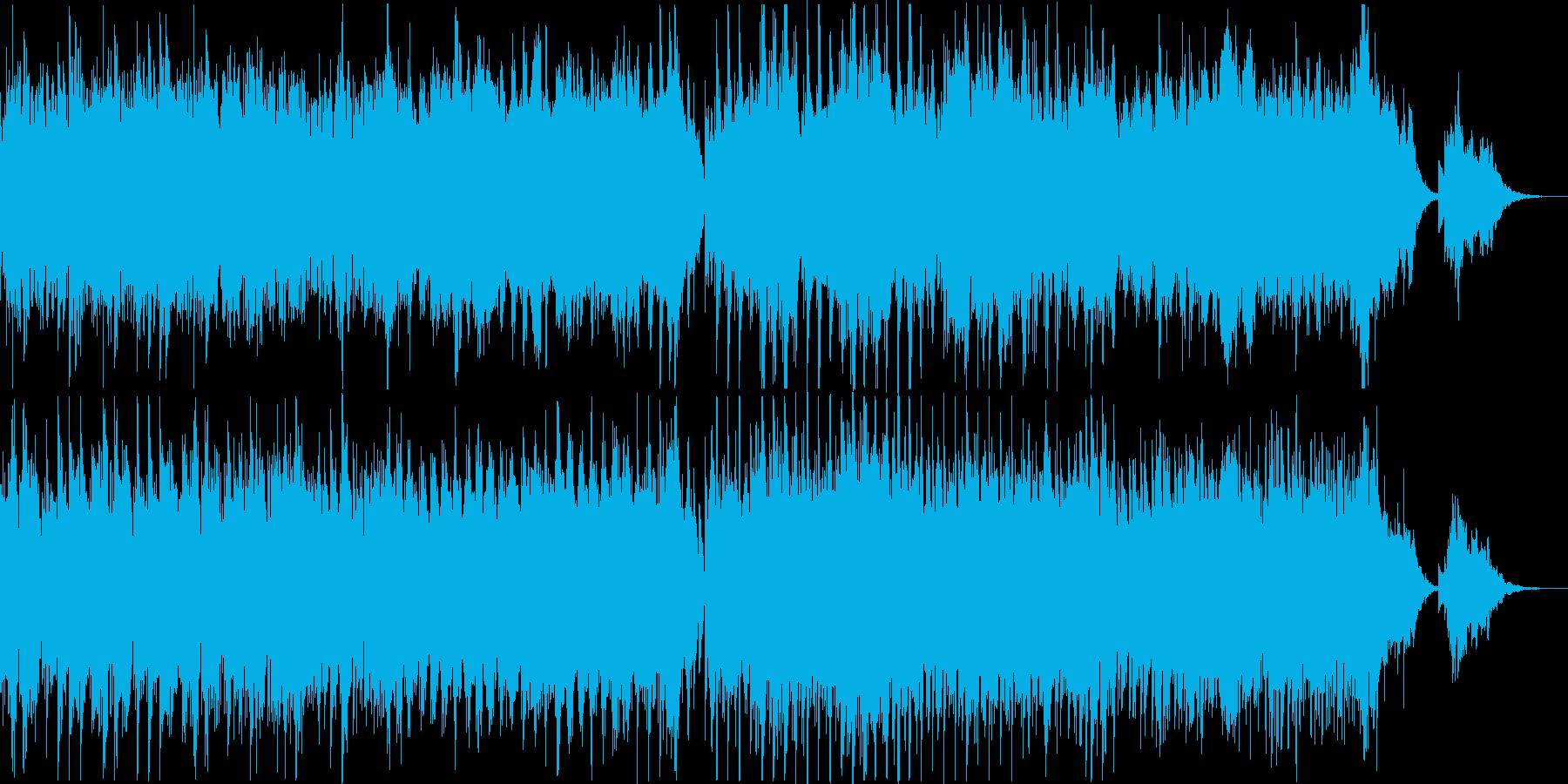 ピアノの音色が美しい感動的なメロディーの再生済みの波形