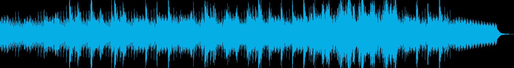 躍動感のあるピチカートを伴ったピアノ曲の再生済みの波形