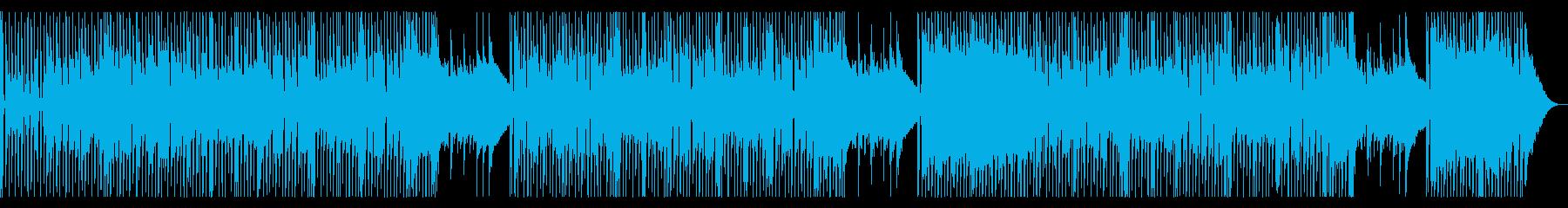 70年代風ギターハードロックの再生済みの波形