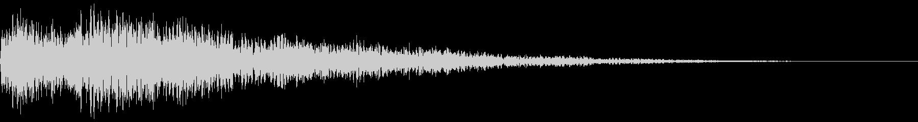 映像の頭などに使われる印象付け効果音の未再生の波形