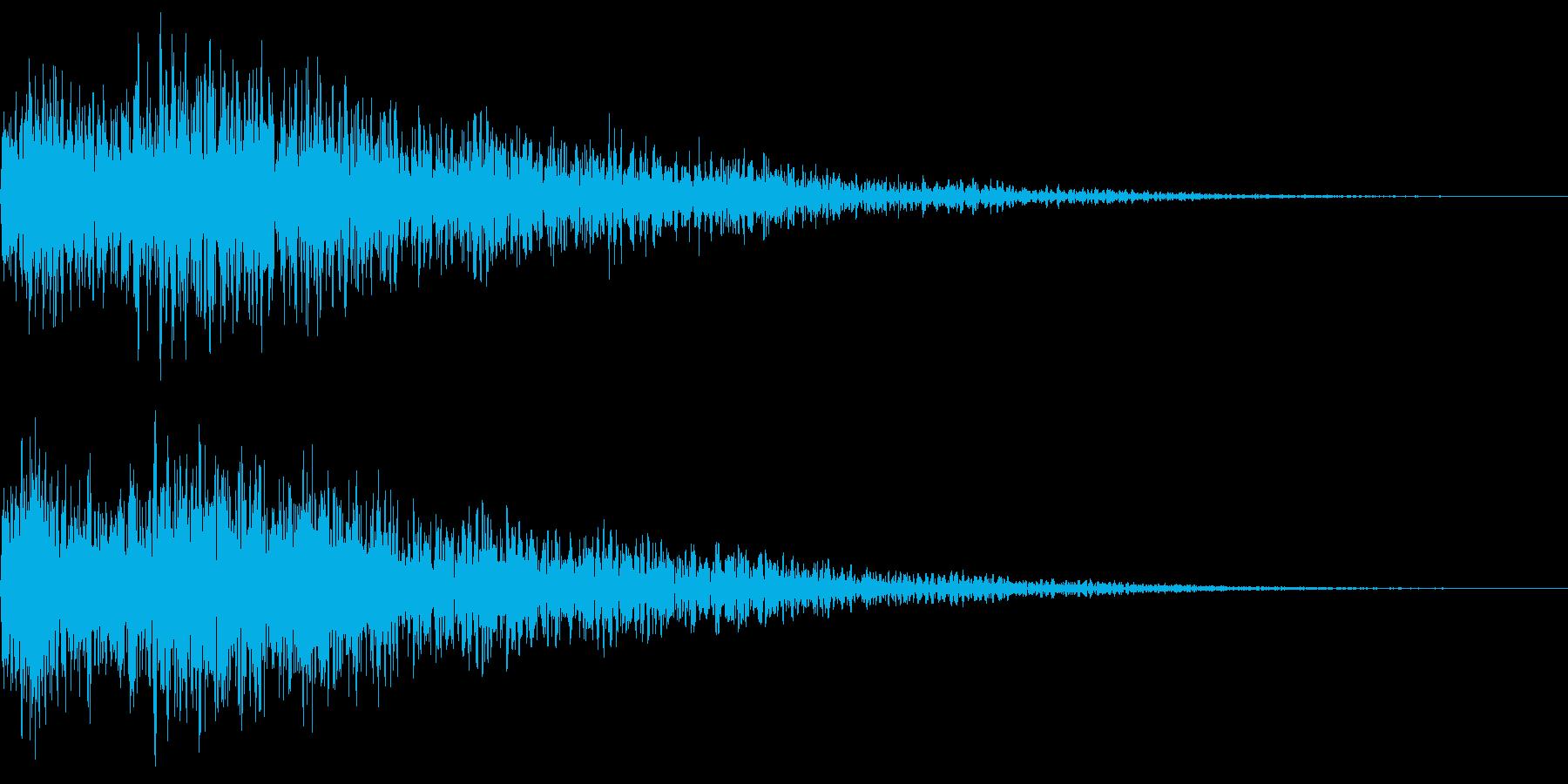 映像の頭などに使われる印象付け効果音の再生済みの波形