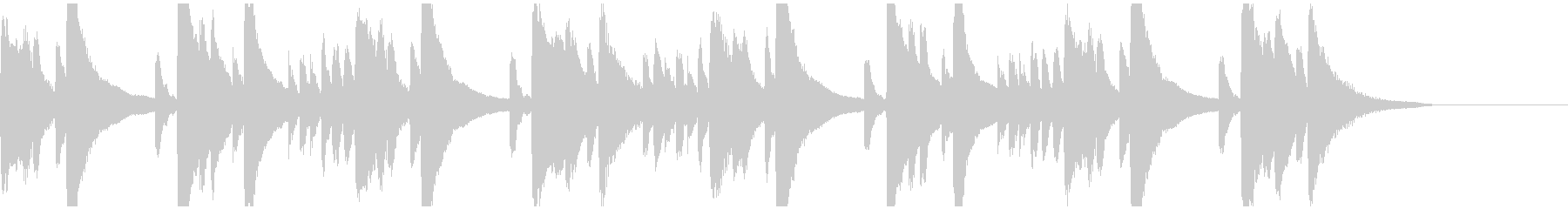 メロディとコードのシンプルなピアノ2の未再生の波形