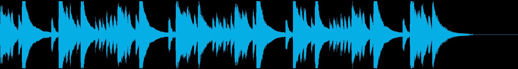 メロディとコードのシンプルなピアノ2の再生済みの波形