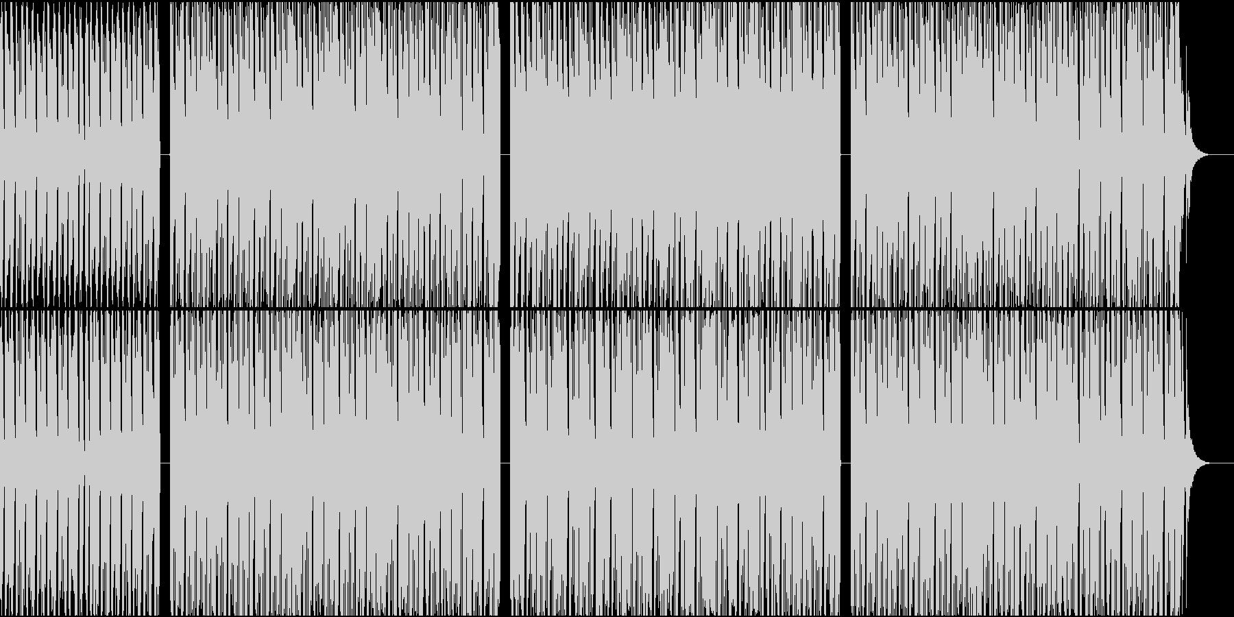 少し肌寒い感じのハウスサウンドの未再生の波形