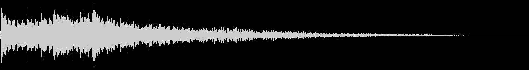 幻想的な場面転換音 クラシカルなフレーズの未再生の波形