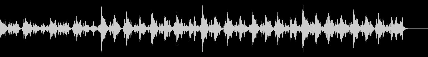 幻想的で神秘的なマリンバ(木琴)BGMの未再生の波形