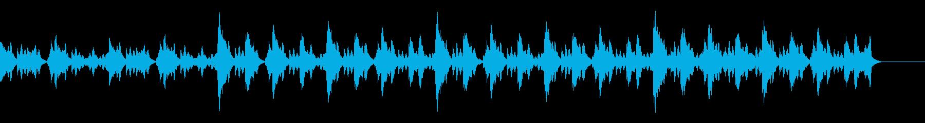 幻想的で神秘的なマリンバ(木琴)BGMの再生済みの波形