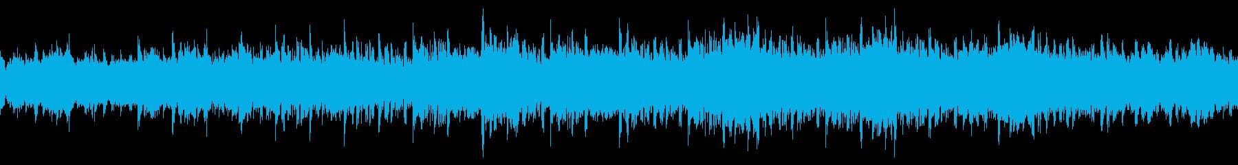 BGMに最適なシンセサイザーの曲の再生済みの波形