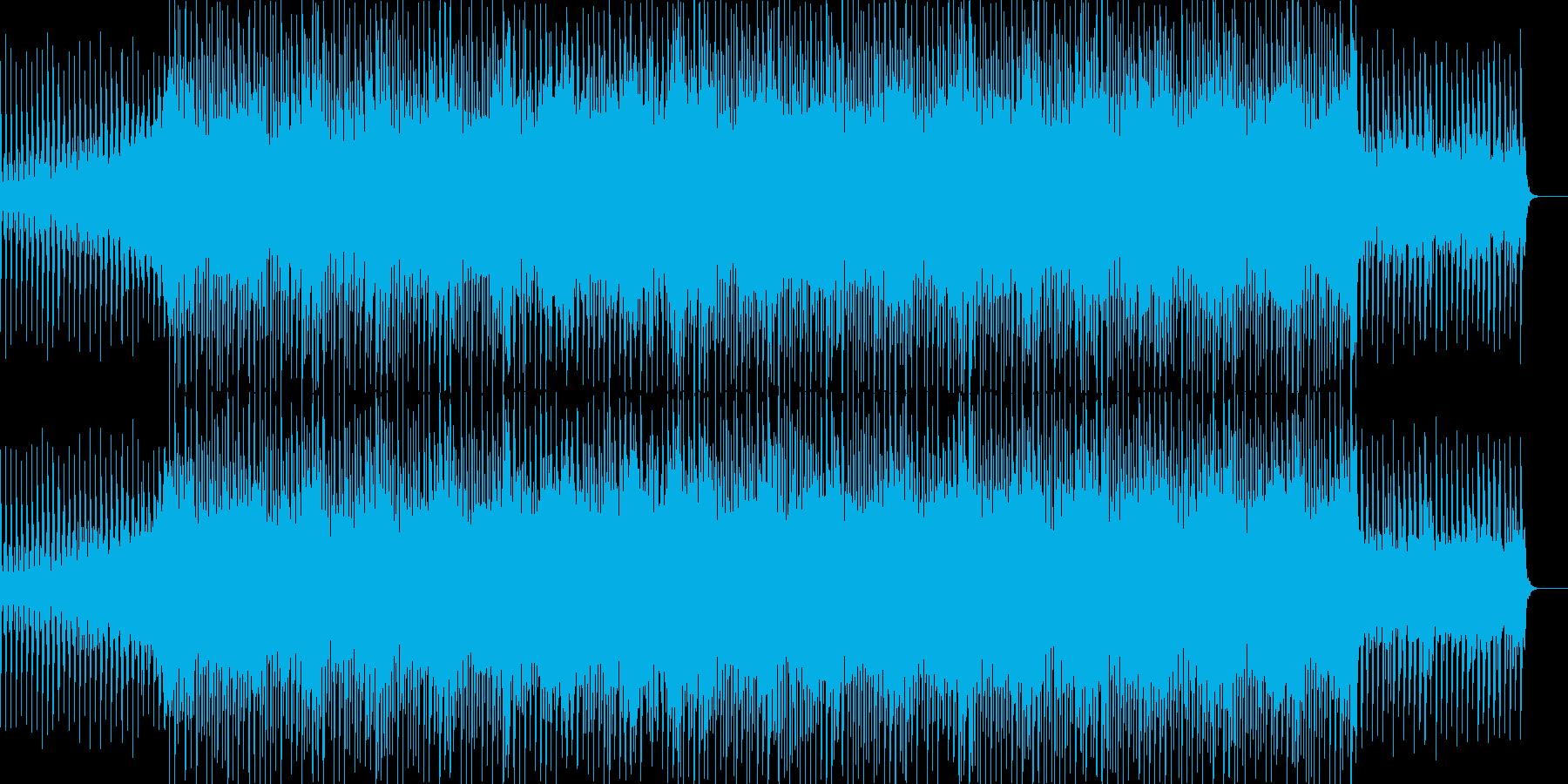 ポップなダンスミュージックの再生済みの波形