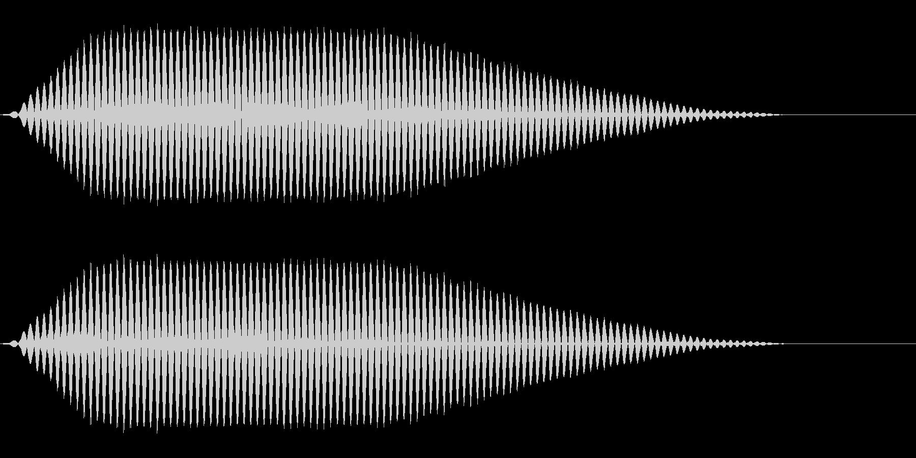ブーン(表示/パソコン/映像)の未再生の波形