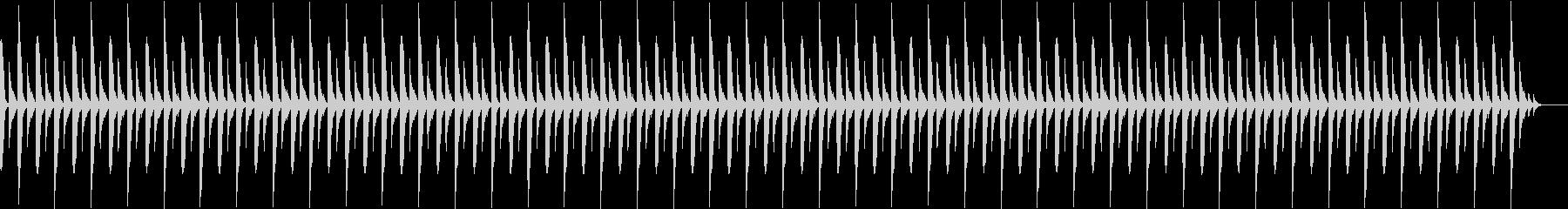 雰囲気の暗いゆっくりしたBGMの未再生の波形