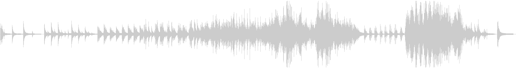 ピアノソロ:サビ2分41秒:癒しの未再生の波形