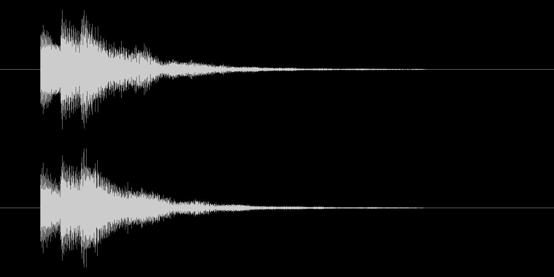 キラッとした固めのイメージの選択音の未再生の波形