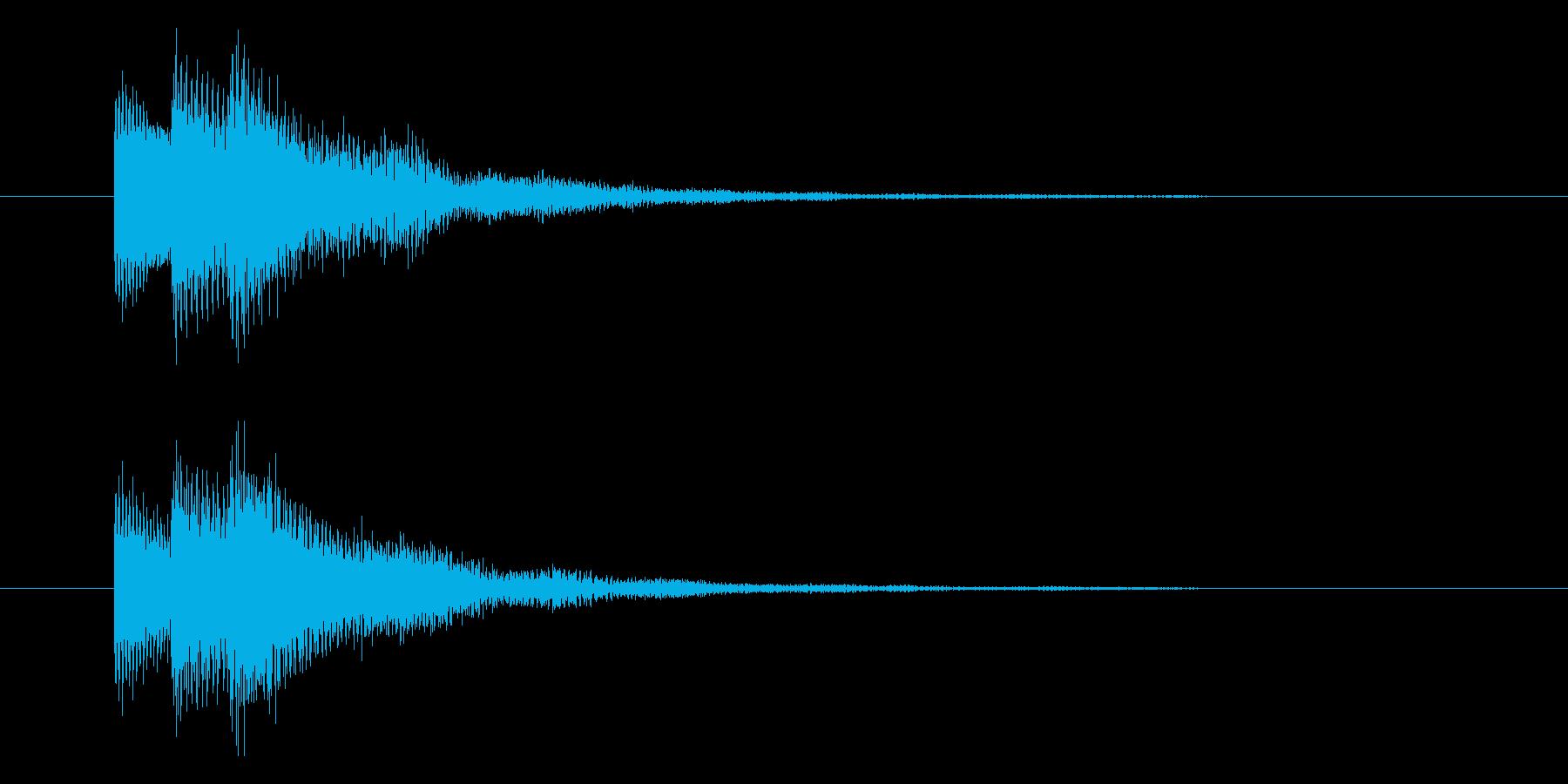 キラッとした固めのイメージの選択音の再生済みの波形