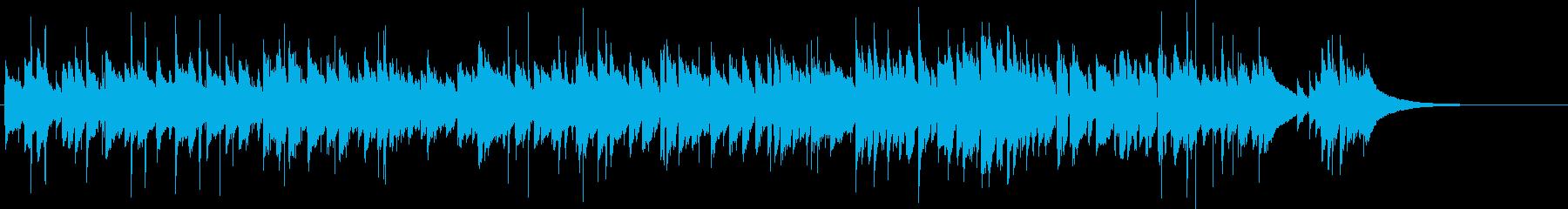 日常的で情緒的なアコースティックギターの再生済みの波形