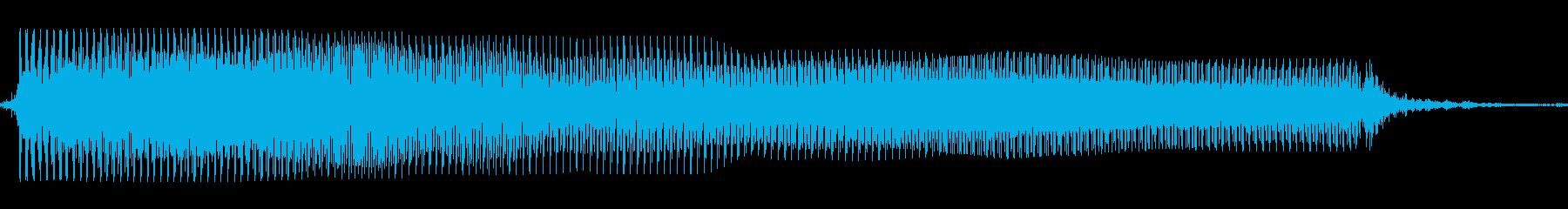 ギターメタルパワーコードza wの再生済みの波形