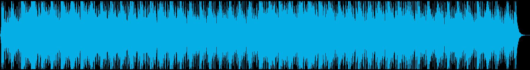 アクション映画音楽のようなパワフルな楽曲の再生済みの波形
