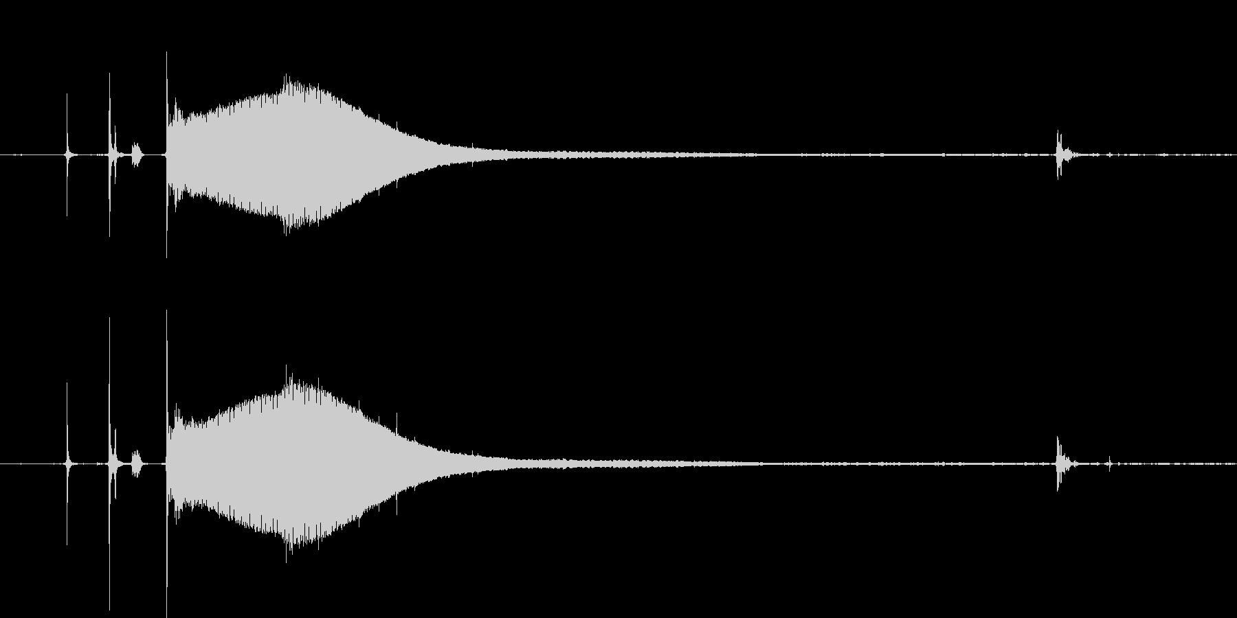 CRTモニターの起動音。の未再生の波形
