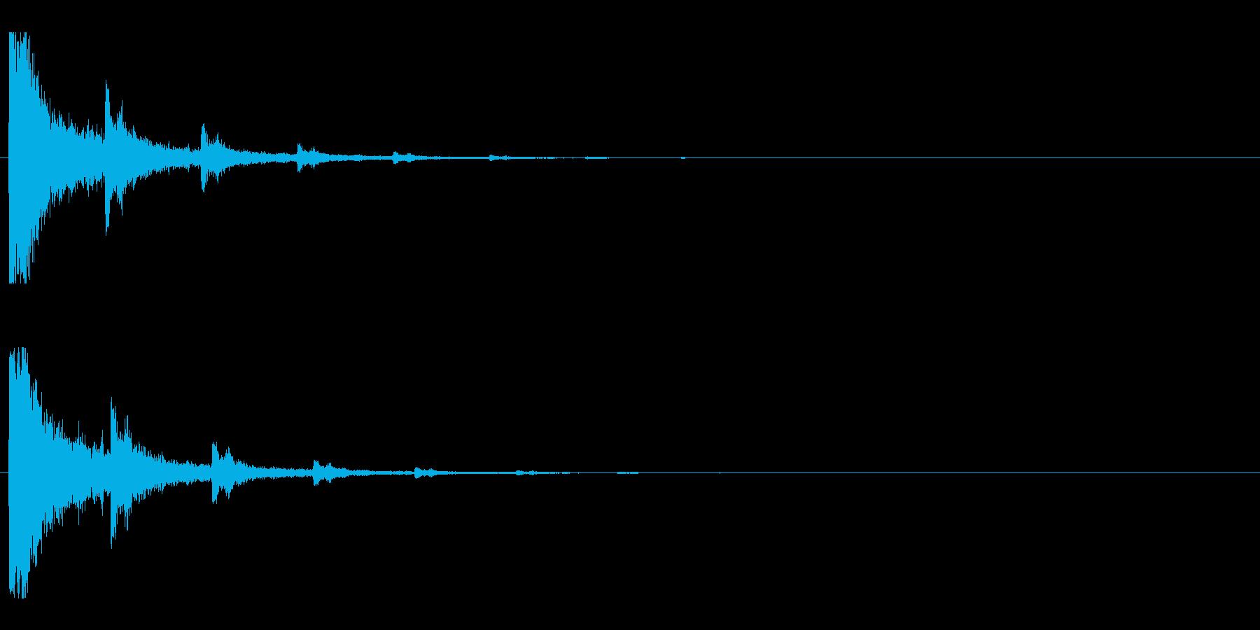 レーザー音-01-2の再生済みの波形