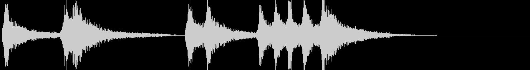 ピアノの不協和音フレーズ(ショックな時)の未再生の波形